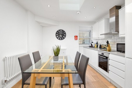 kitchen and dining area, Berwick Apartments, Soho, London W1