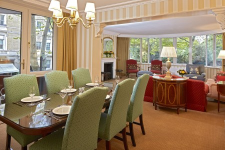 living room with dining area, Palace Serviced Apartments, Kensington, London W8
