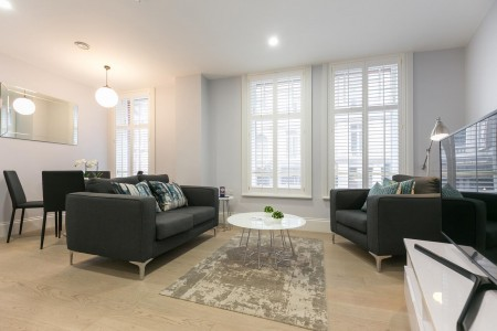 living area, Shaftesbury Apartments 2, Soho, London W1