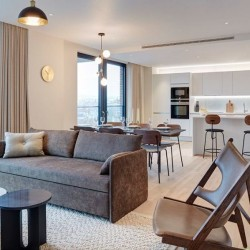 living room and kitchen, Camden Apartments, Camden, London NW1