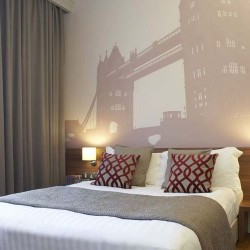 bedroom in holborn aparthotel, london