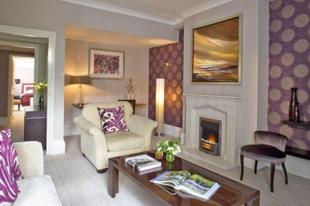 living room with fireplace, Beaufort Apartments, Knightsbridge, London SW3