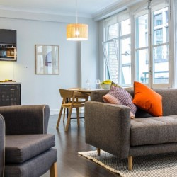 living room in fenchurch apartments, aldgate, london