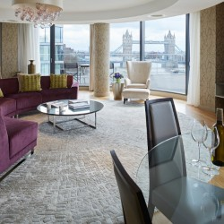 living room with tower bridge views, london