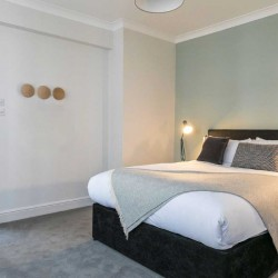 bedroom in fenchurch apartments, aldgate, london