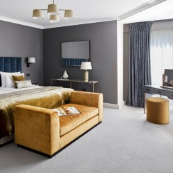 double bedroom with dressing table, Green Park Apartments, Mayfair, London