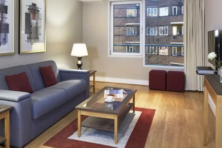 living area, Long Lane Apartments, London Bridge, London SE1
