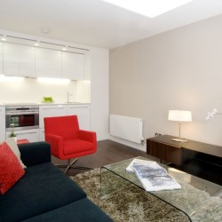 living room in botolph residence, city, london