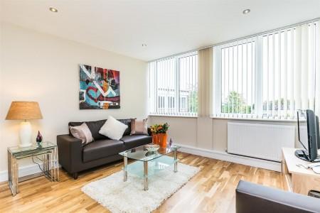 harrow apartments, living room