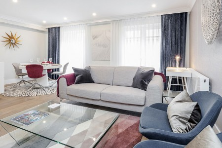 mews apartments, mayfair, living room