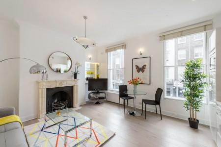 living room, Crawford Apartments, Marylebone, London W1