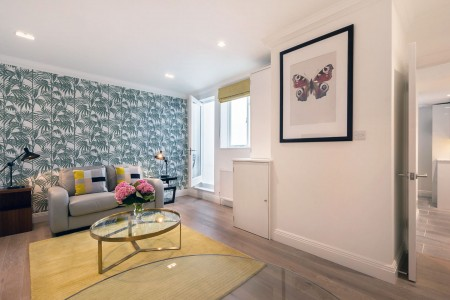 living room, Wyndhams Apartments, Marylebone, London W1