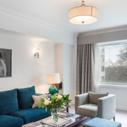deluxe 1 bedroom apartment, living room with park view, Green Park Apartments, Mayfair, London SW1