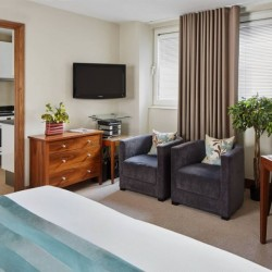 standard studio, living area, Green Park Apartments, Mayfair, London SW1