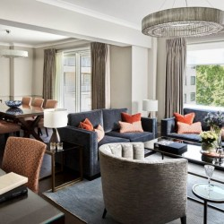 superior 3 bedroom apartment, living room with dining area, Green Park Apartments, Mayfair, London SW1