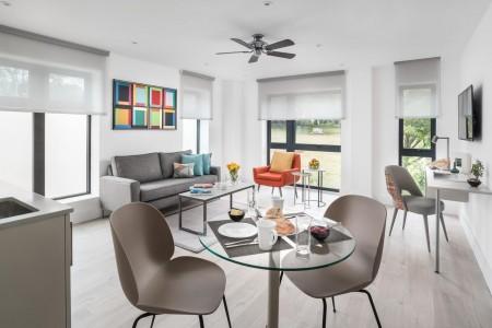 living area in seaside apartments, brighton