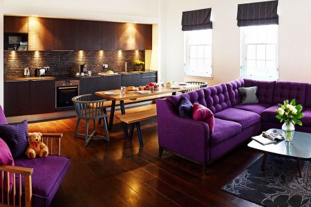 living area, The Old Town Apartments, Edinburgh EH1, Scotland