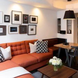 living area, Old Town Apartments, Edinburgh EH1, Scotland