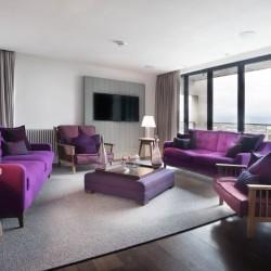living area penthouse, Old Town Apartments, Edinburgh EH1, Scotland