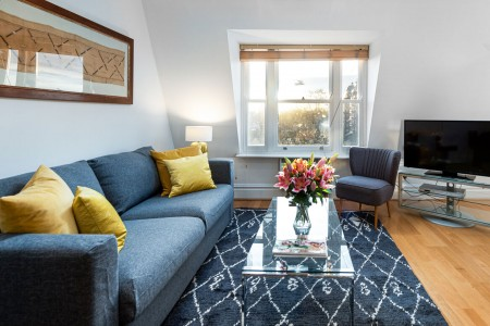 living room, Draycott Serviced Apartments, Chelsea, London SW3