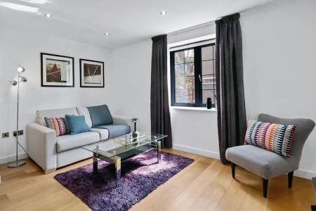 living room, Tenter Apartments, City, London E1