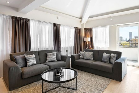 penthouse living room, Victoria Deluxe Apartments, Victoria, London SW1