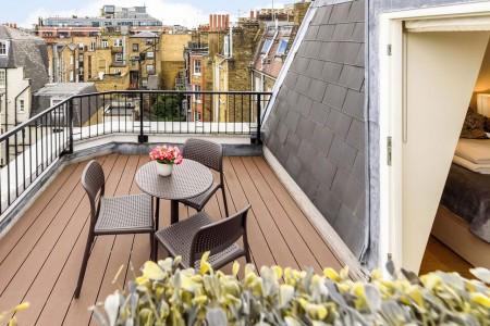 balcony, Fitzrovia Apartments, Fitzrovia, London W1