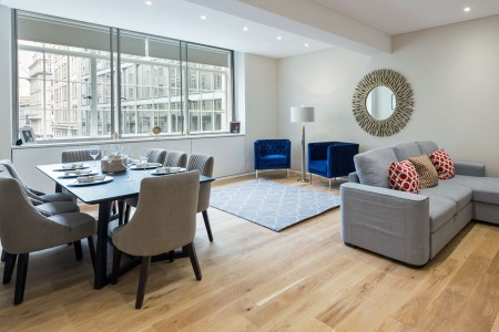 living area, Four Bedroom Apartment, Covent Garden, London WC2