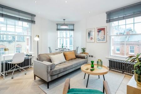 living room, Newman Apartments, Fitzrovia, London W1