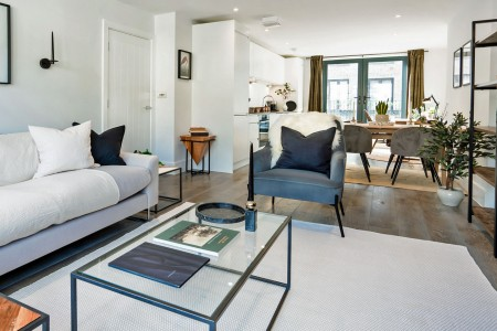living area and kitchen, The Mews Penthouse, Holborn, London WC1
