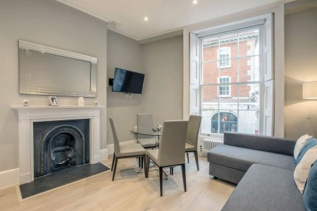 living area, The Opera Apartments, Covent Garden, London WC2
