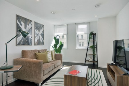 living room, Old Street Apartments, Clerkenwell, London EC1