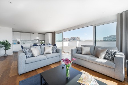 living area, Lock Serviced Apartments, Camden, London NW1