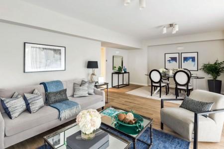 living area, Hyde Park Apartments 2, Kensington, London SW7