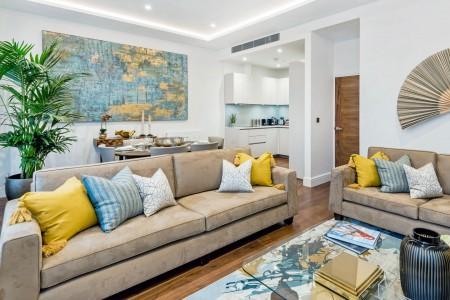 living area, Hyde Park Apartments 1, Kensington, London SW7