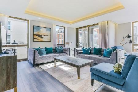 large living room, Holland Park Apartments, Kensington, London W14