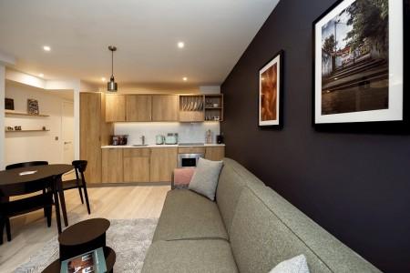 living area, one bedroom apartment, The Apart Hotel Aldgate, City, London E1